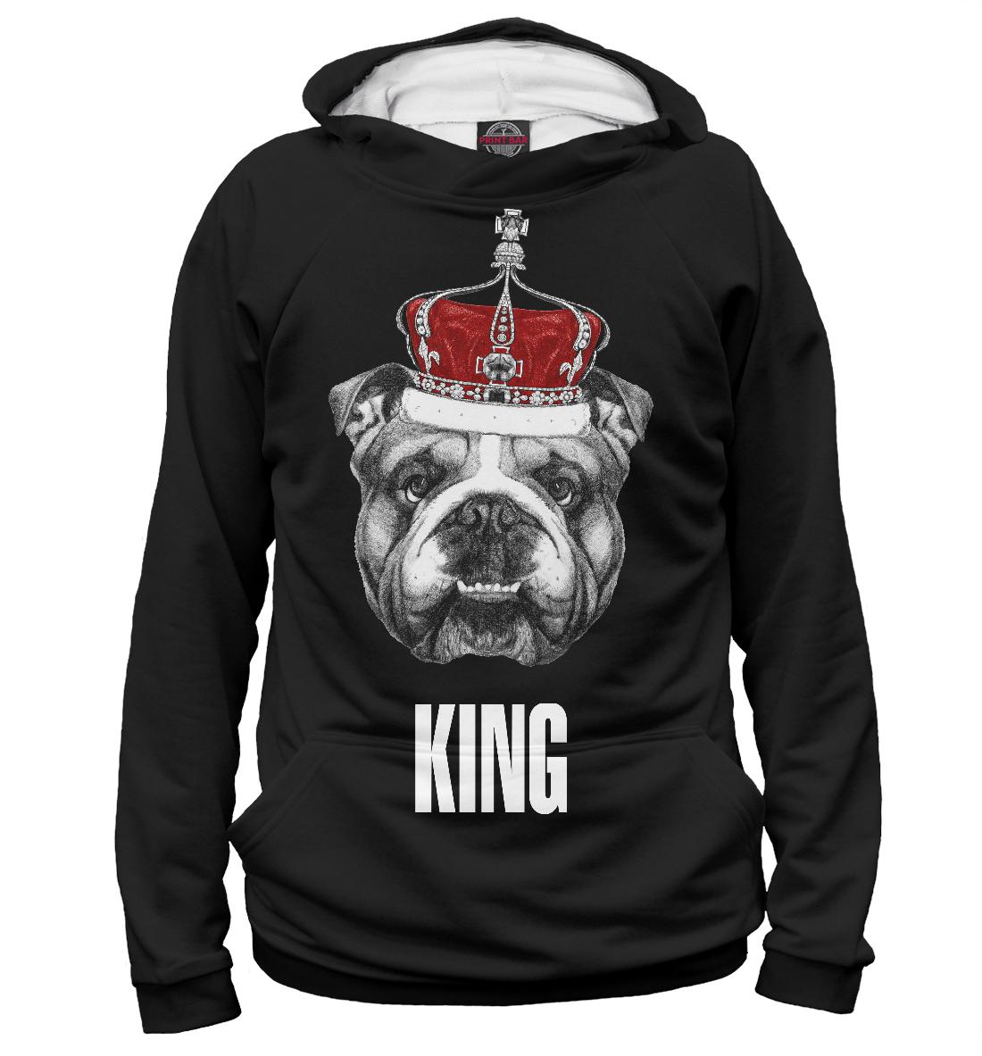 Английский бульдог с короной, Printbar, Худи, DOG-147814-hud-2  - купить со скидкой