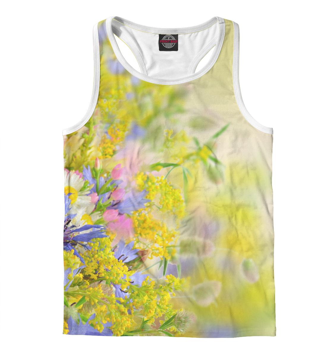 Купить Цветочки, Printbar, Майки борцовки, CVE-406827-mayb-2