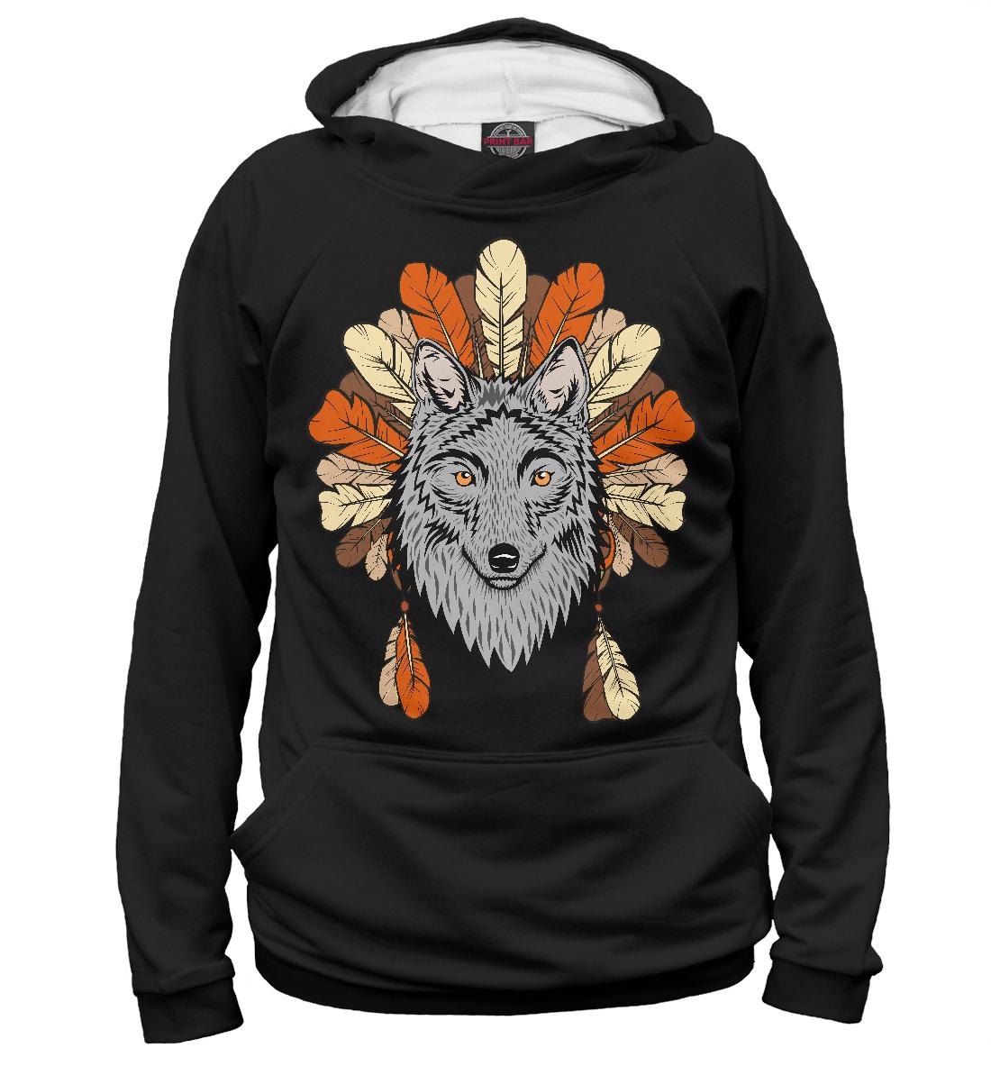 Купить Волк индеец, Printbar, Худи, VLF-582521-hud-2