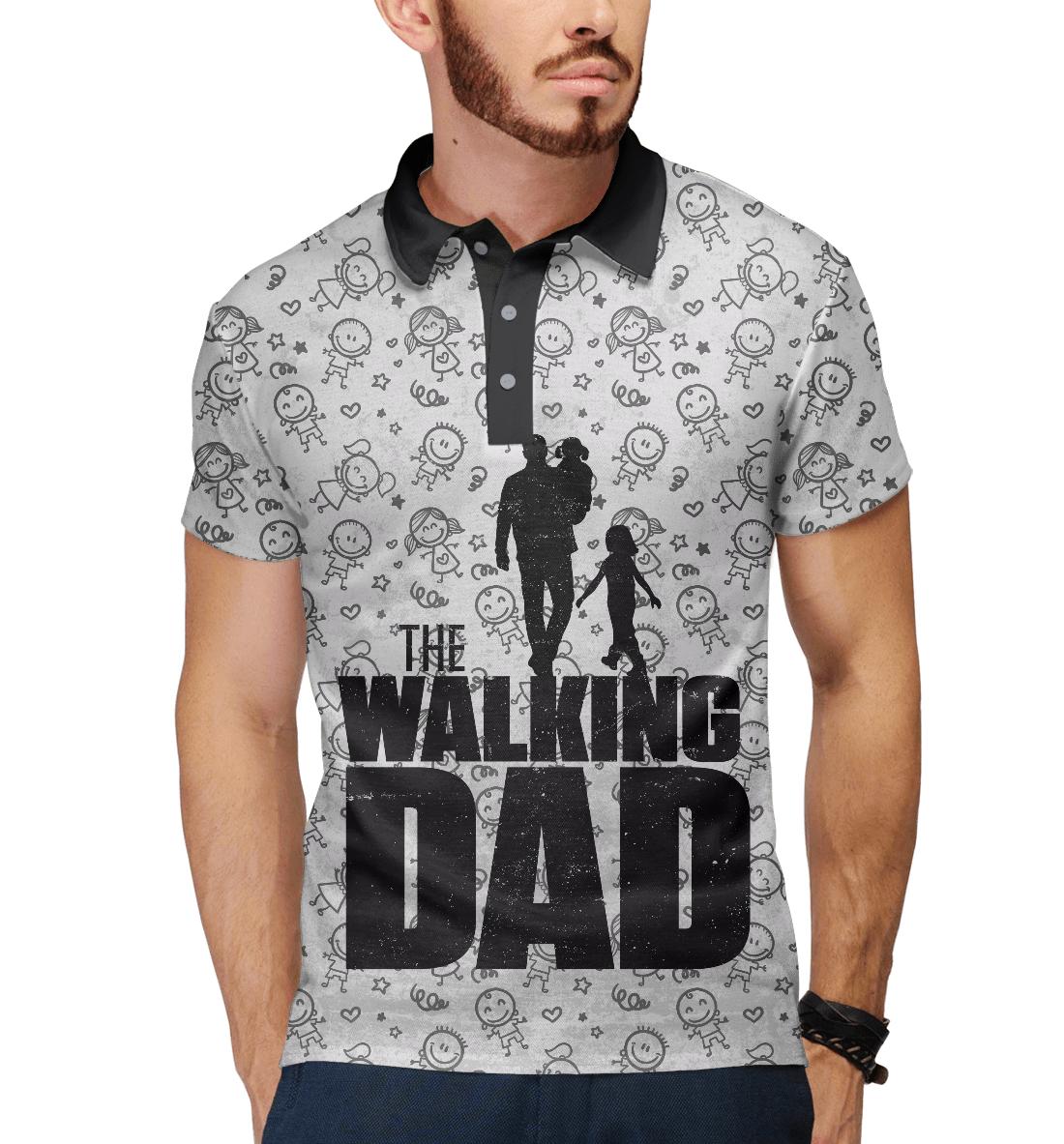 Купить Walking Dad, Printbar, Поло, HOD-465409-pol-2