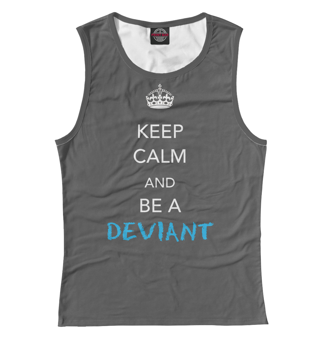 Купить Keep calm and be a deviant, Printbar, Майки, NDP-496422-may-1