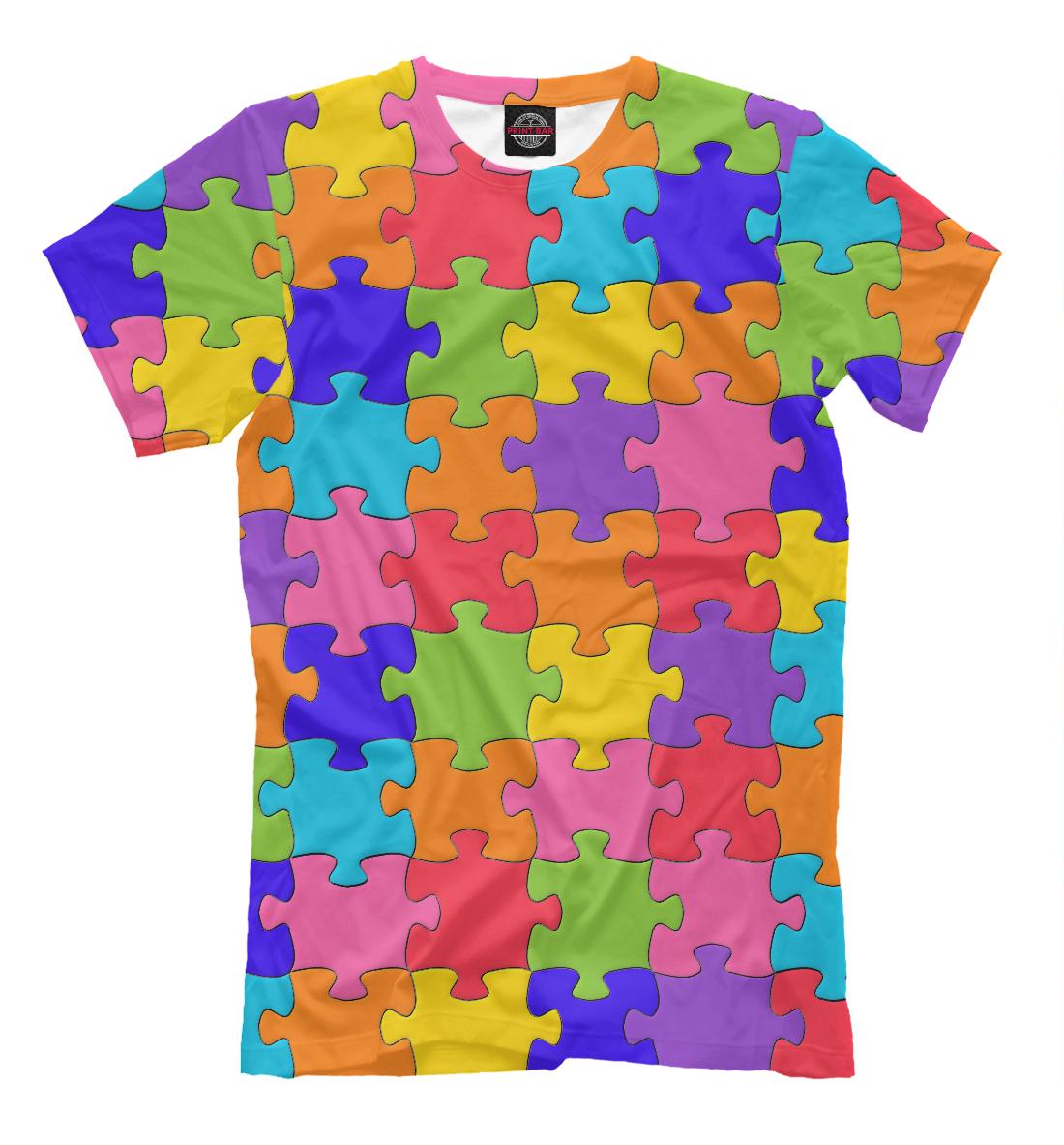 Купить Разноцветный Пазл, Printbar, Футболки, APD-575678-fut-2