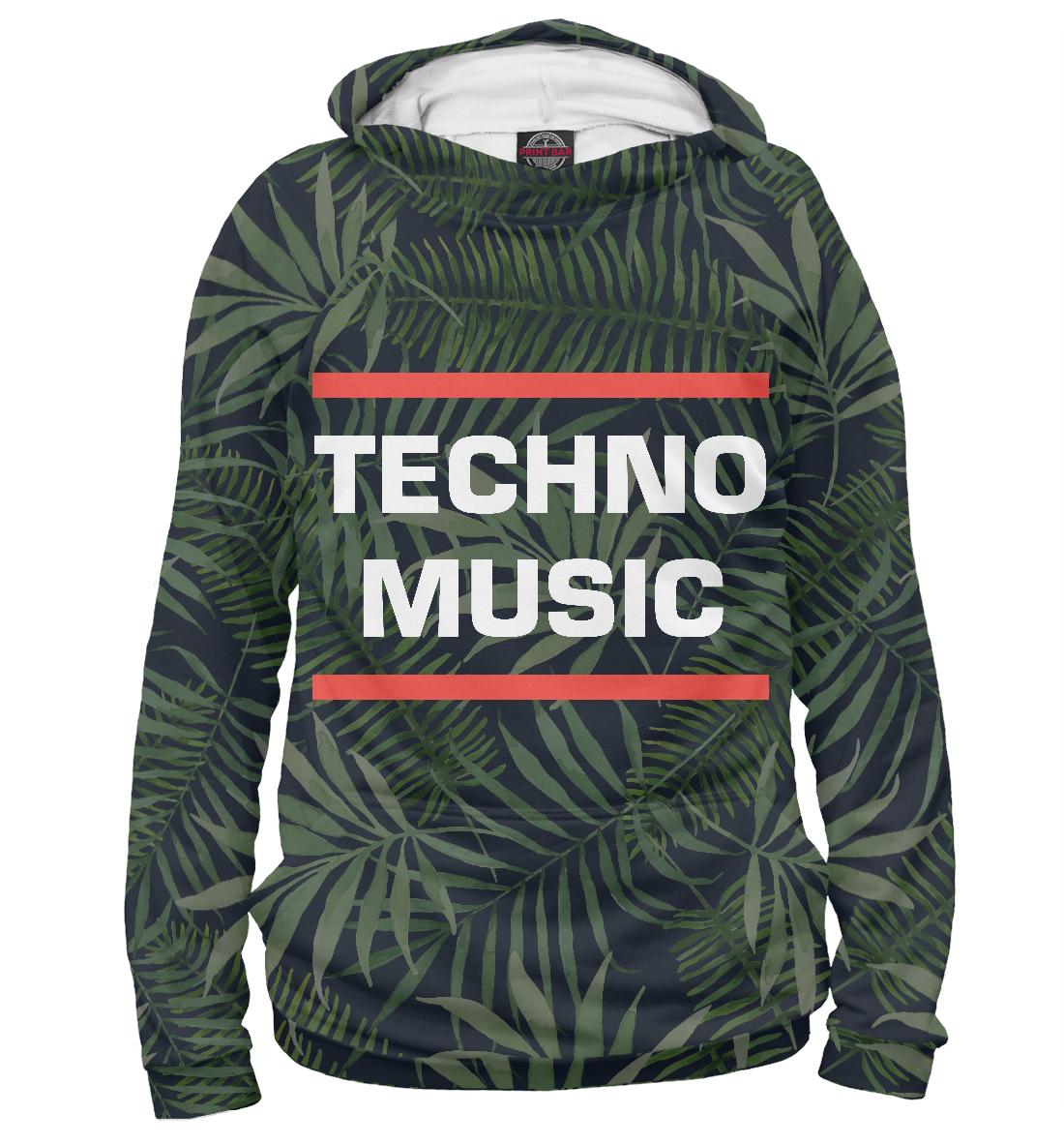 Купить Techno music, Printbar, Худи, DJS-313981-hud-2