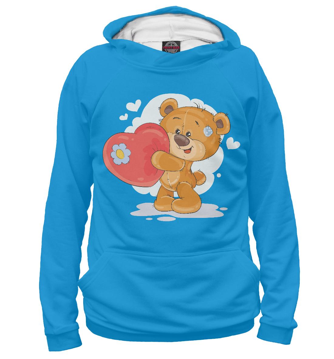 Купить Медвежонок с сердцем, Printbar, Худи, SRD-776863-hud-1