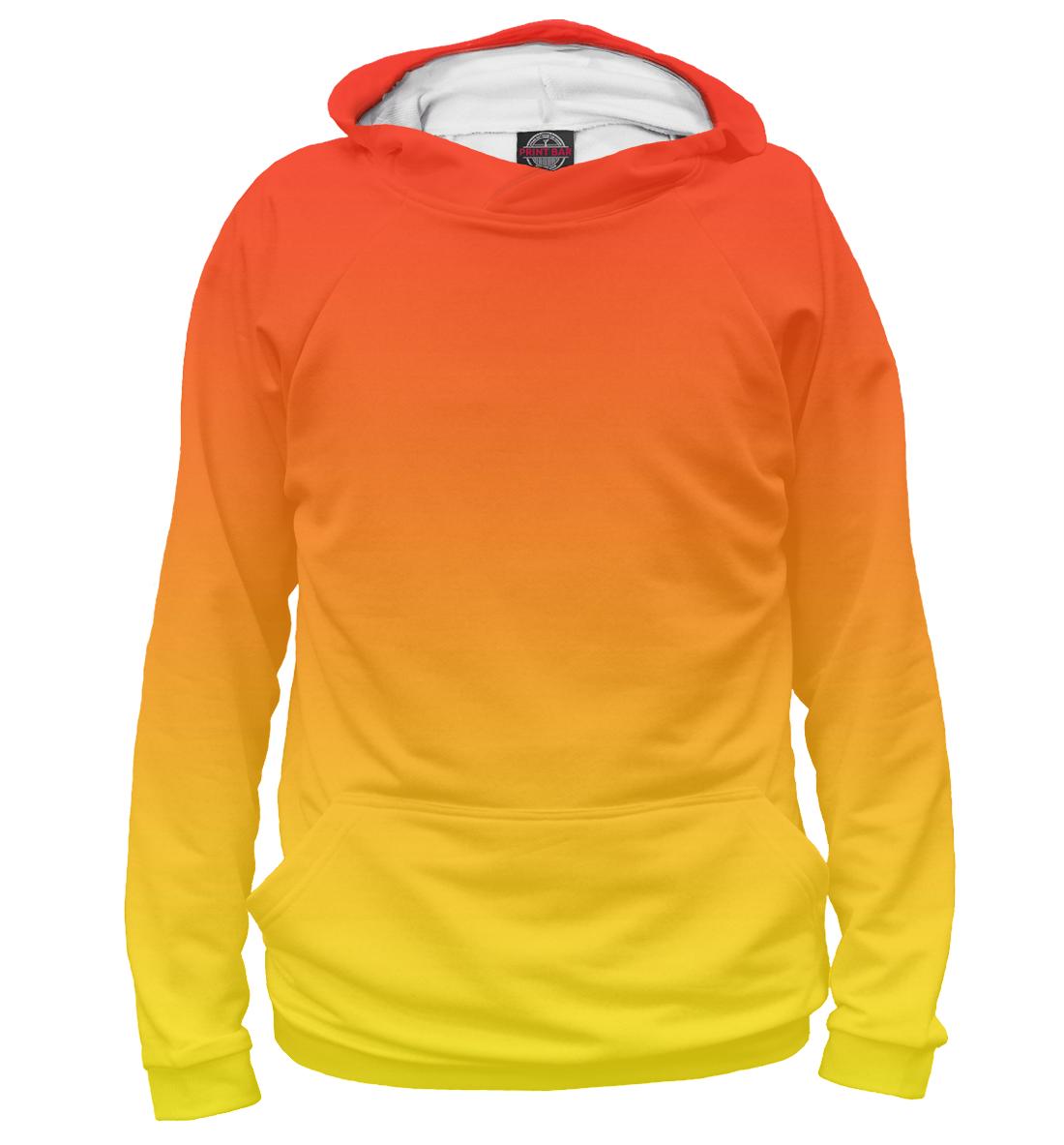 Купить Градиент: Красный в Желтый, Printbar, Худи, CLR-550766-hud-1