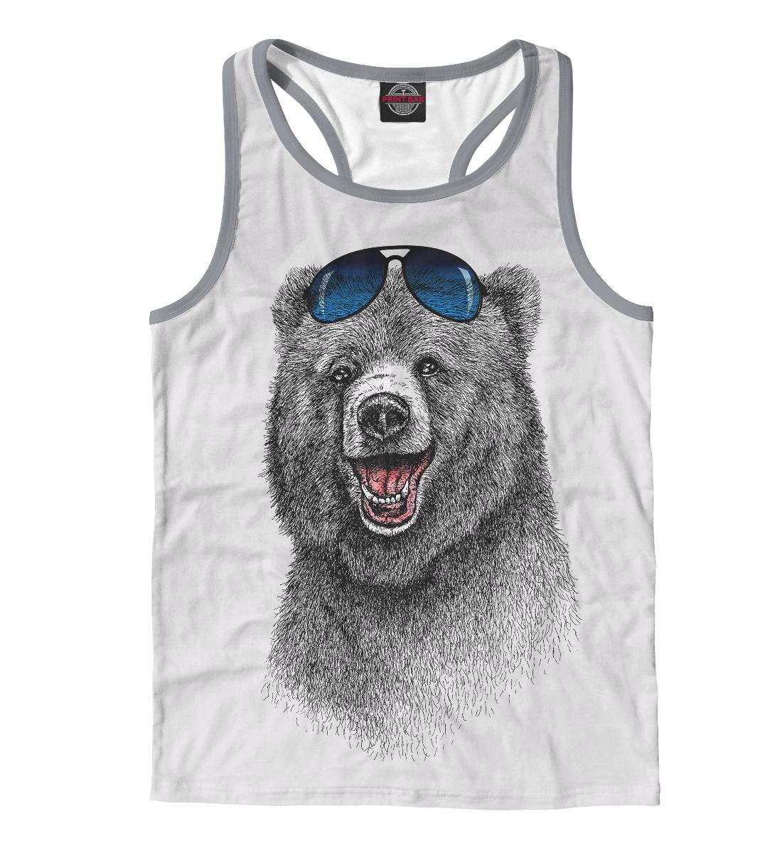 Купить Счастливый медведь, Printbar, Майки борцовки, MED-397090-mayb-2