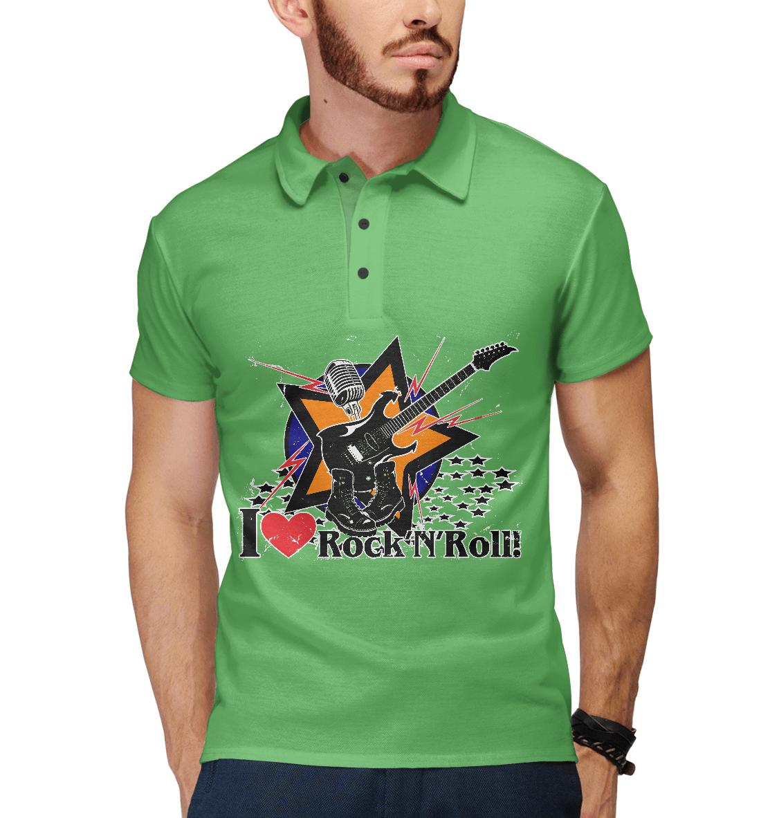 Купить I love Rock-n-nRoll, Printbar, Поло, RCK-265320-pol-2