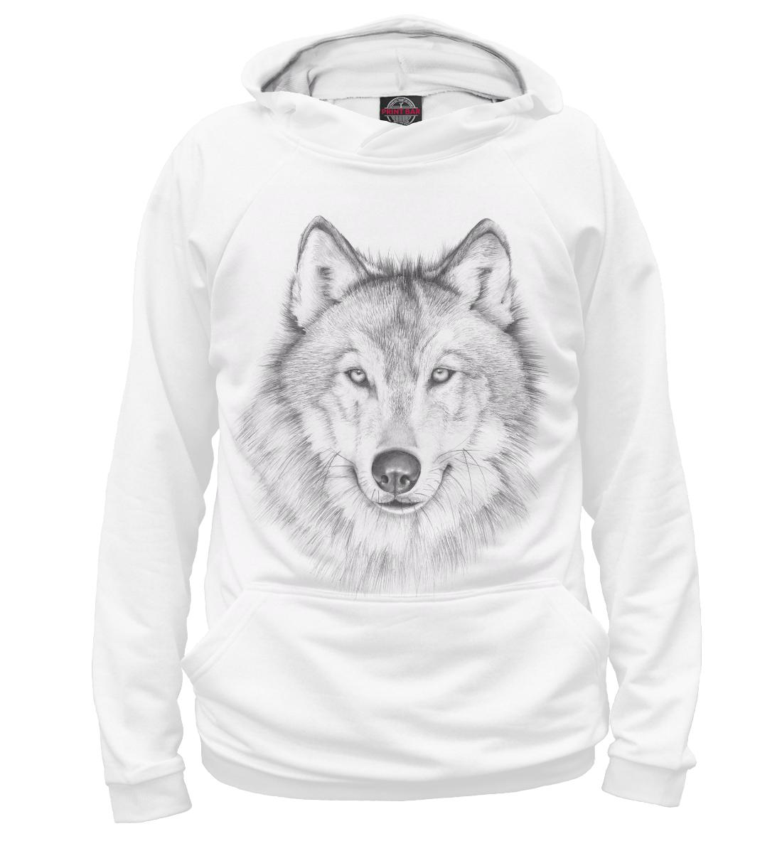 Купить Волк, Printbar, Худи, VLF-639715-hud-1