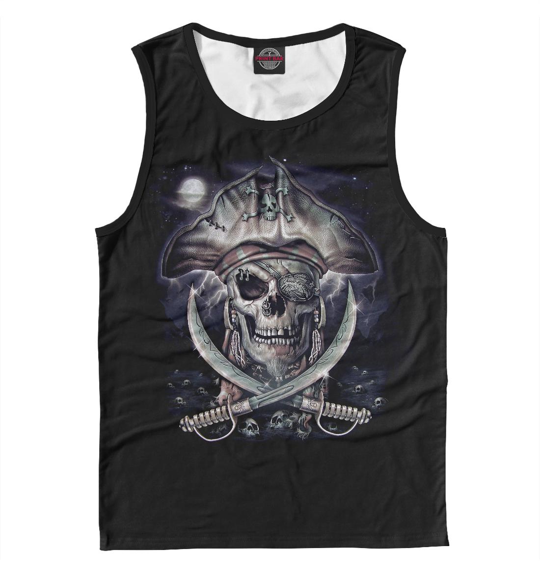 Купить Pirate Skull, Printbar, Майки, APD-409808-may-2
