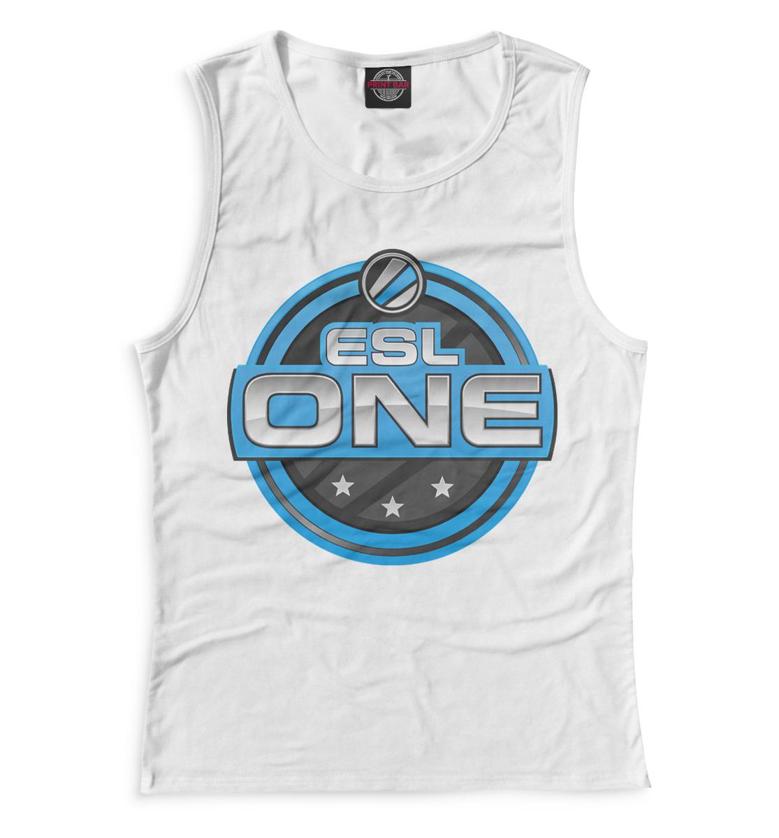 Купить ESL One Logo White, Printbar, Майки, COU-571626-may-1
