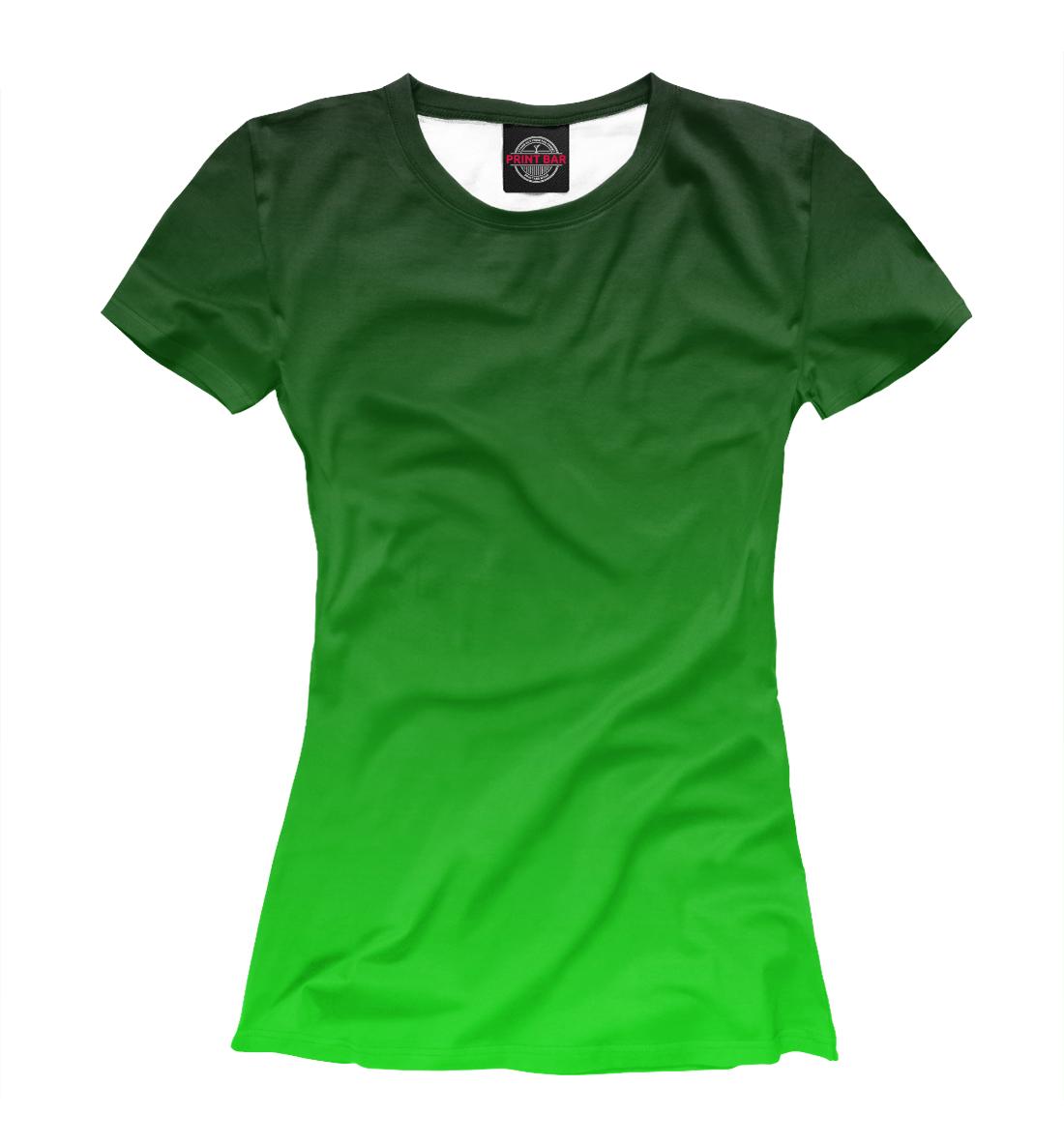 Градиент Зеленый в Черный, Printbar, Футболки, CLR-327769-fut-1  - купить со скидкой