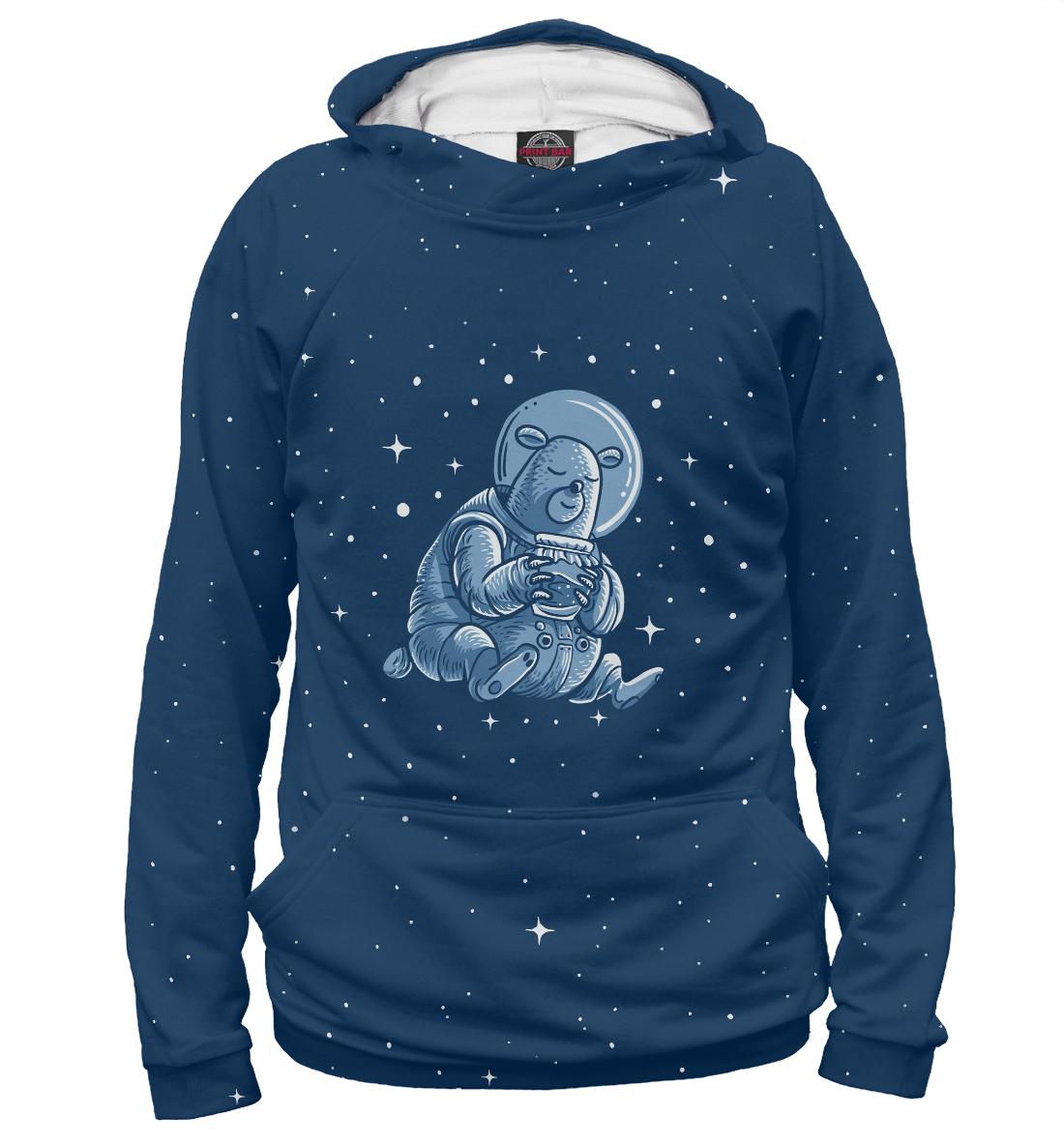 Купить Sleeping Space Bear, Printbar, Худи, HIP-395996-hud-2