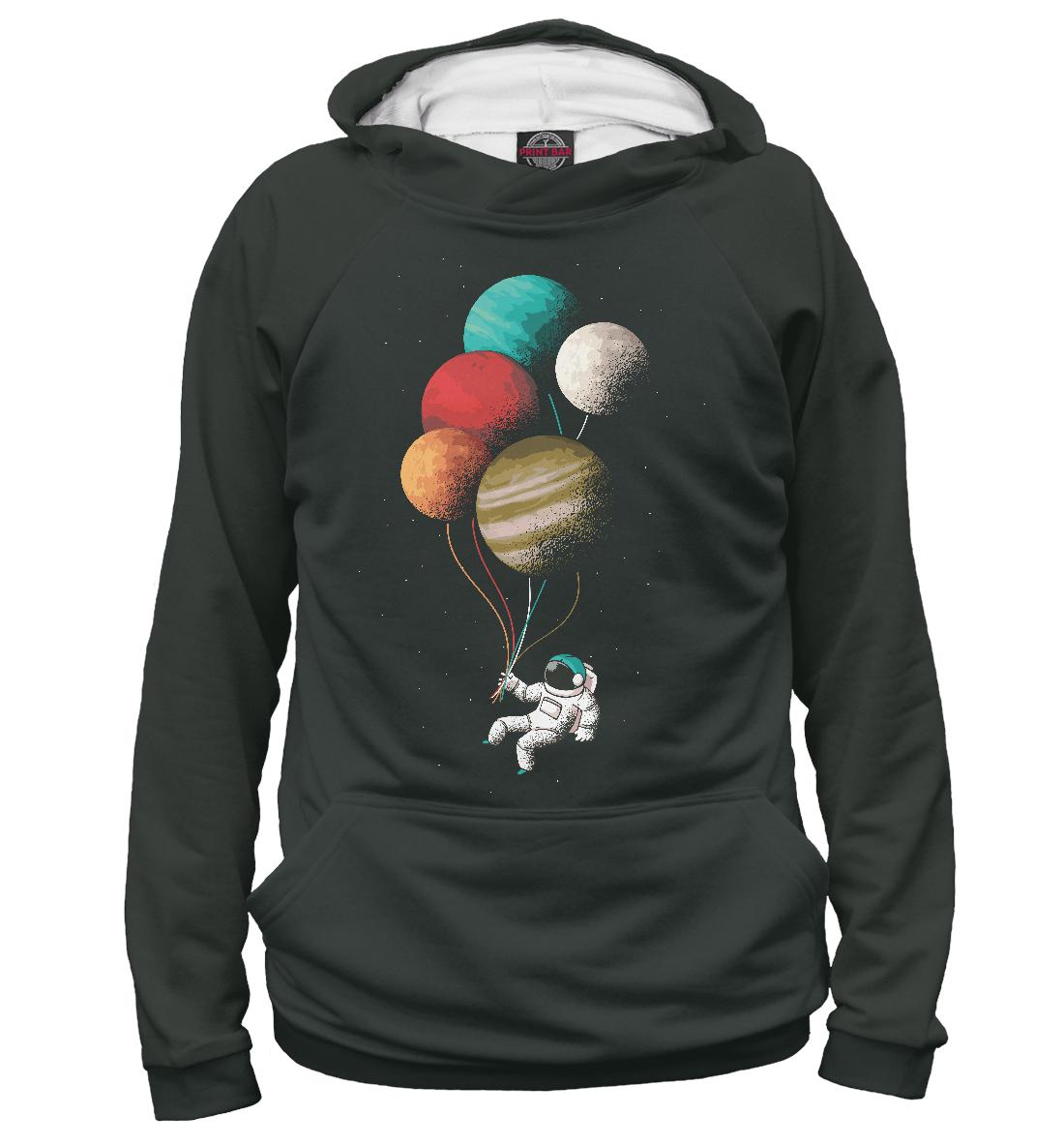 Купить Космонавт в космосе с планетами, Printbar, Худи, HIP-694302-hud-1