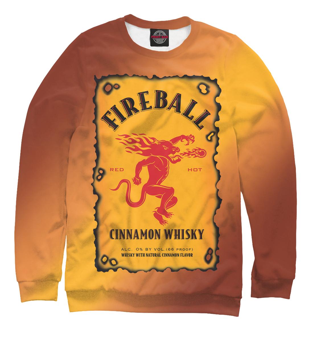 Купить Fireball Cinnamon Whisky безалкогольный, Printbar, Свитшоты, MZH-236838-swi-1