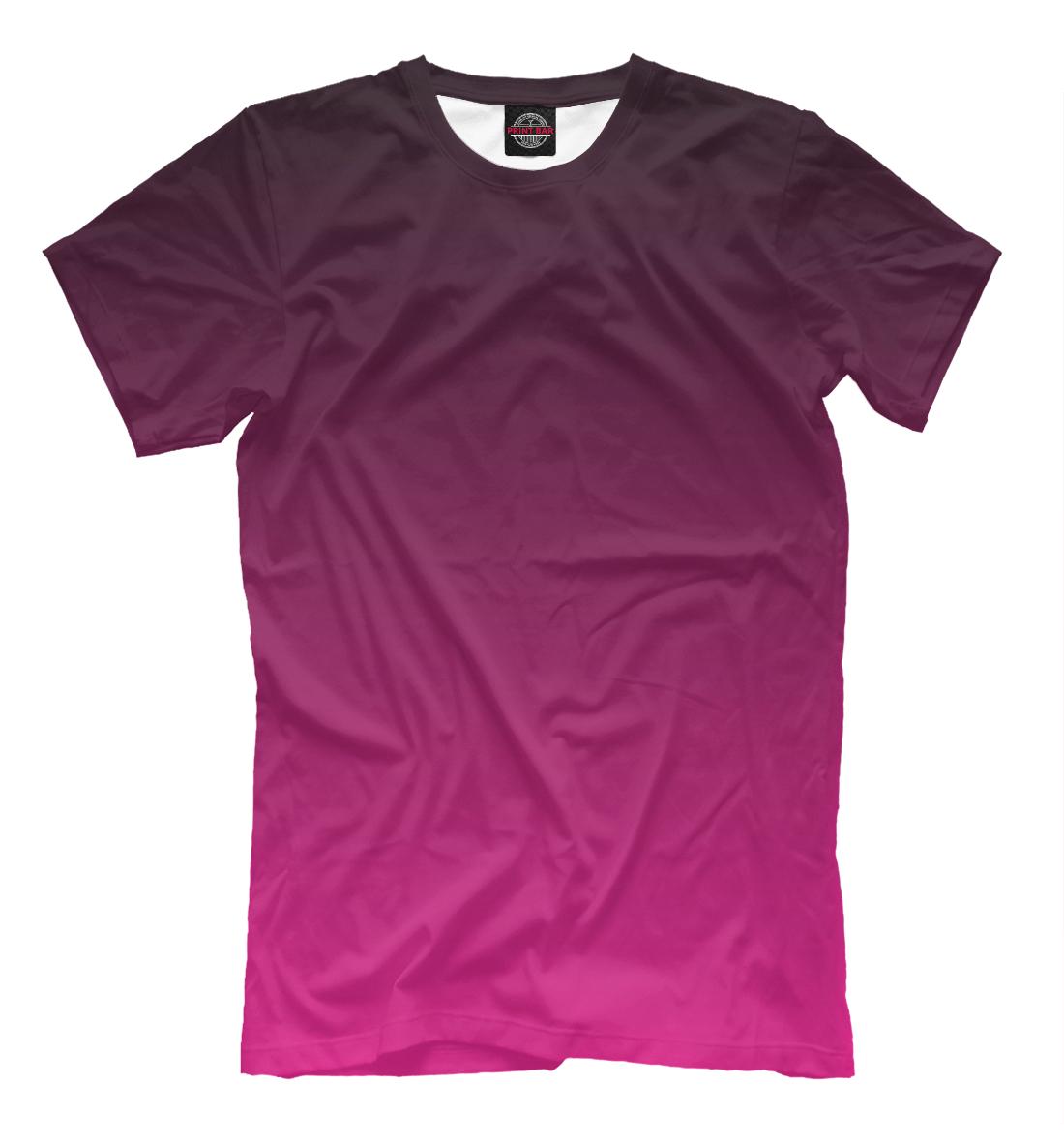 Купить Градиент Розовый в Черный, Printbar, Футболки, CLR-560218-fut-2
