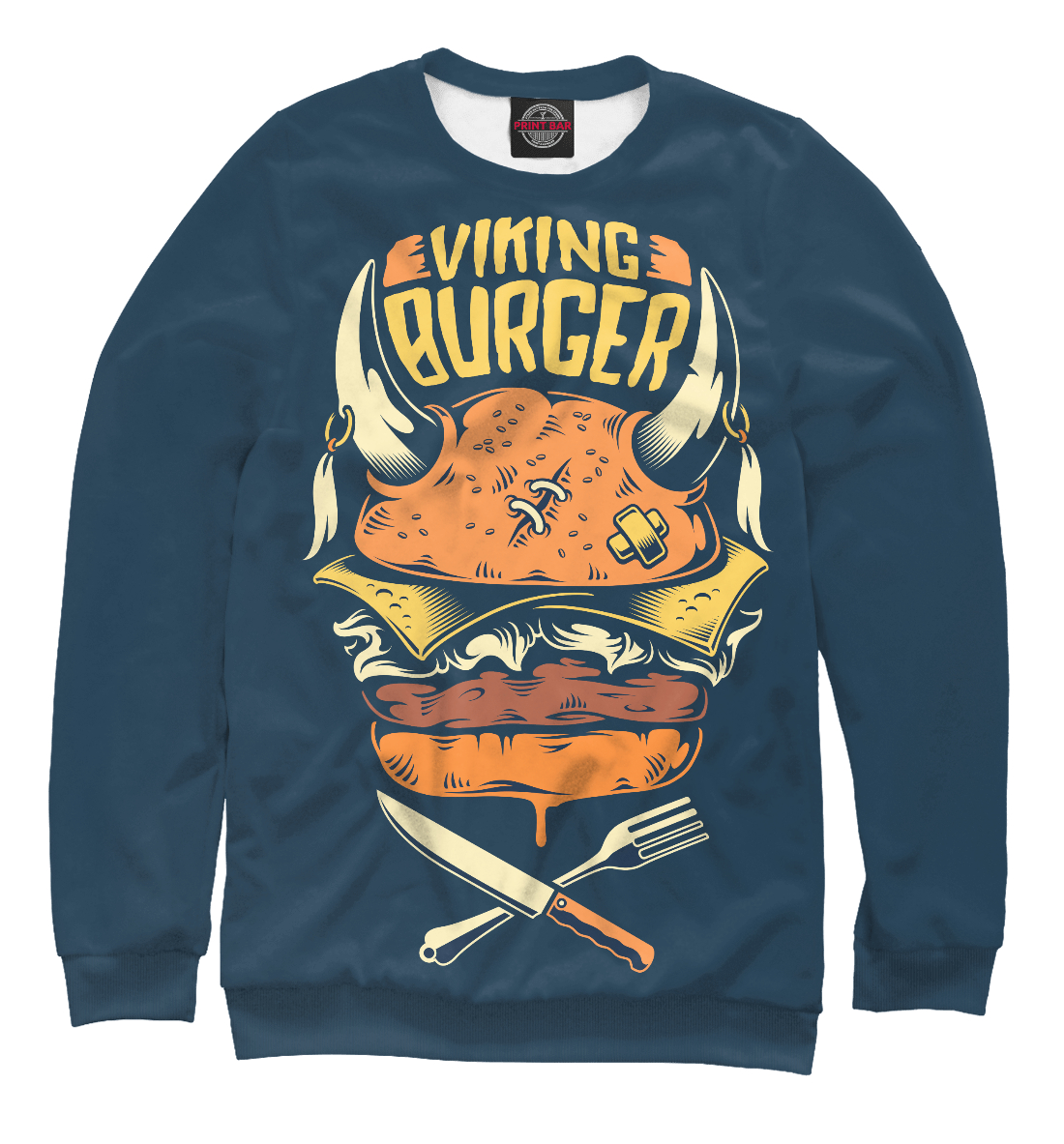 Купить Viking Burger, Printbar, Свитшоты, APD-577718-swi-1