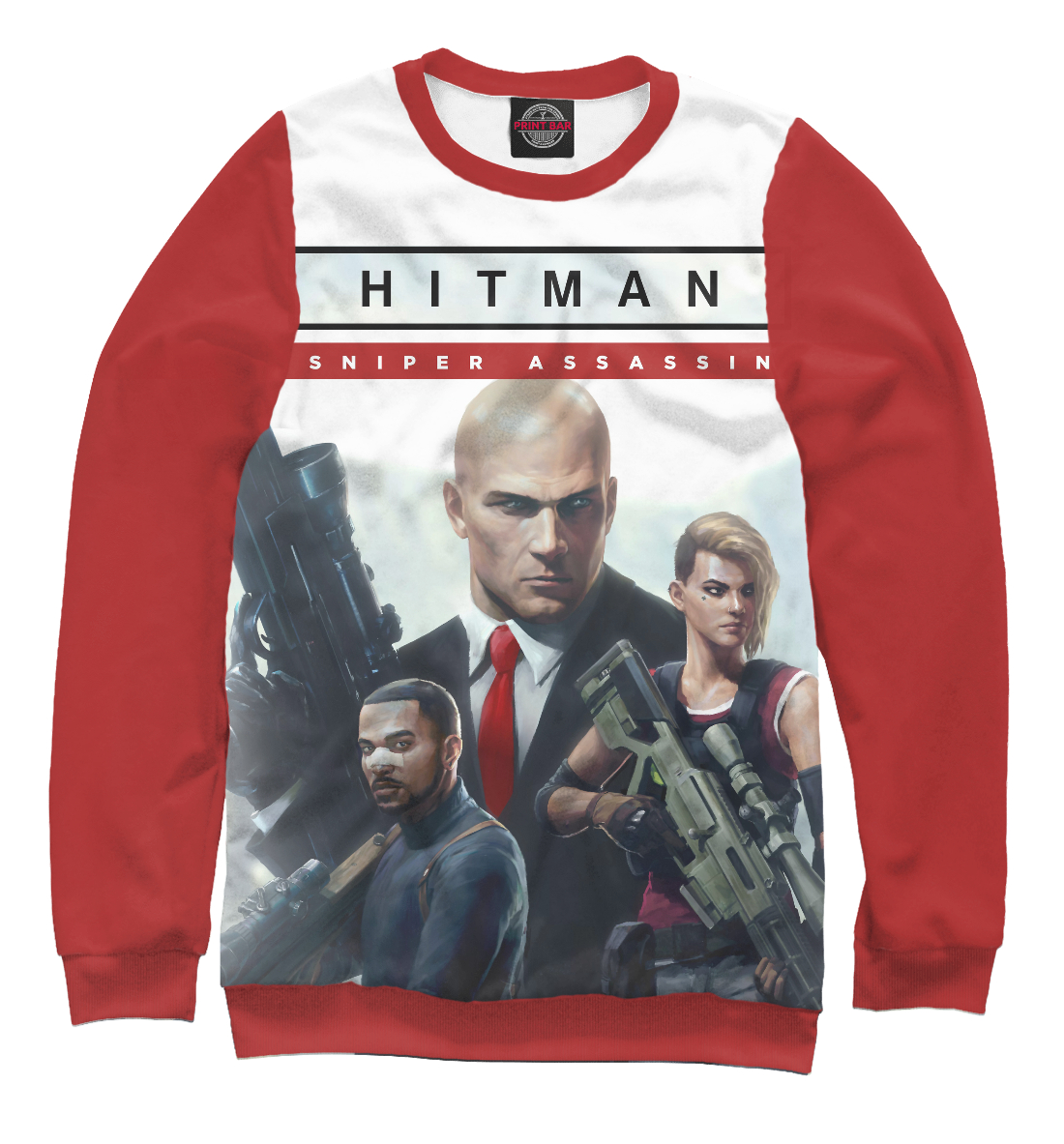Купить Hitman sniper assassin, Printbar, Свитшоты, HTM-371499-swi-2