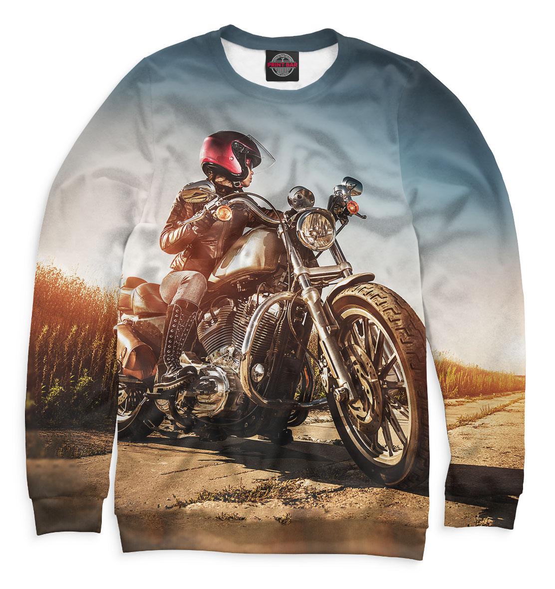 Купить Девушка на мотоцикле, Printbar, Свитшоты, MTR-372509-swi-1