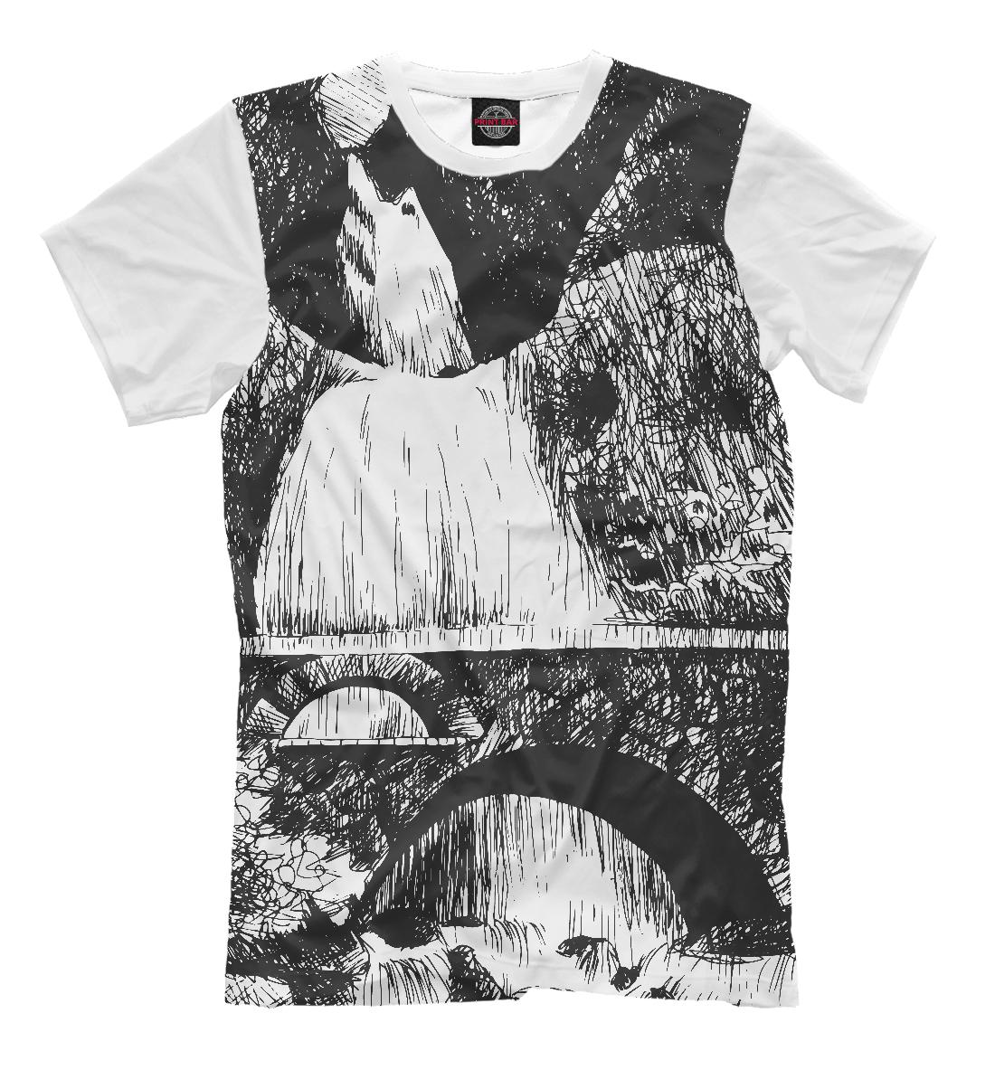 Купить Мост у горного водопада, Printbar, Футболки, PEY-199265-fut-2