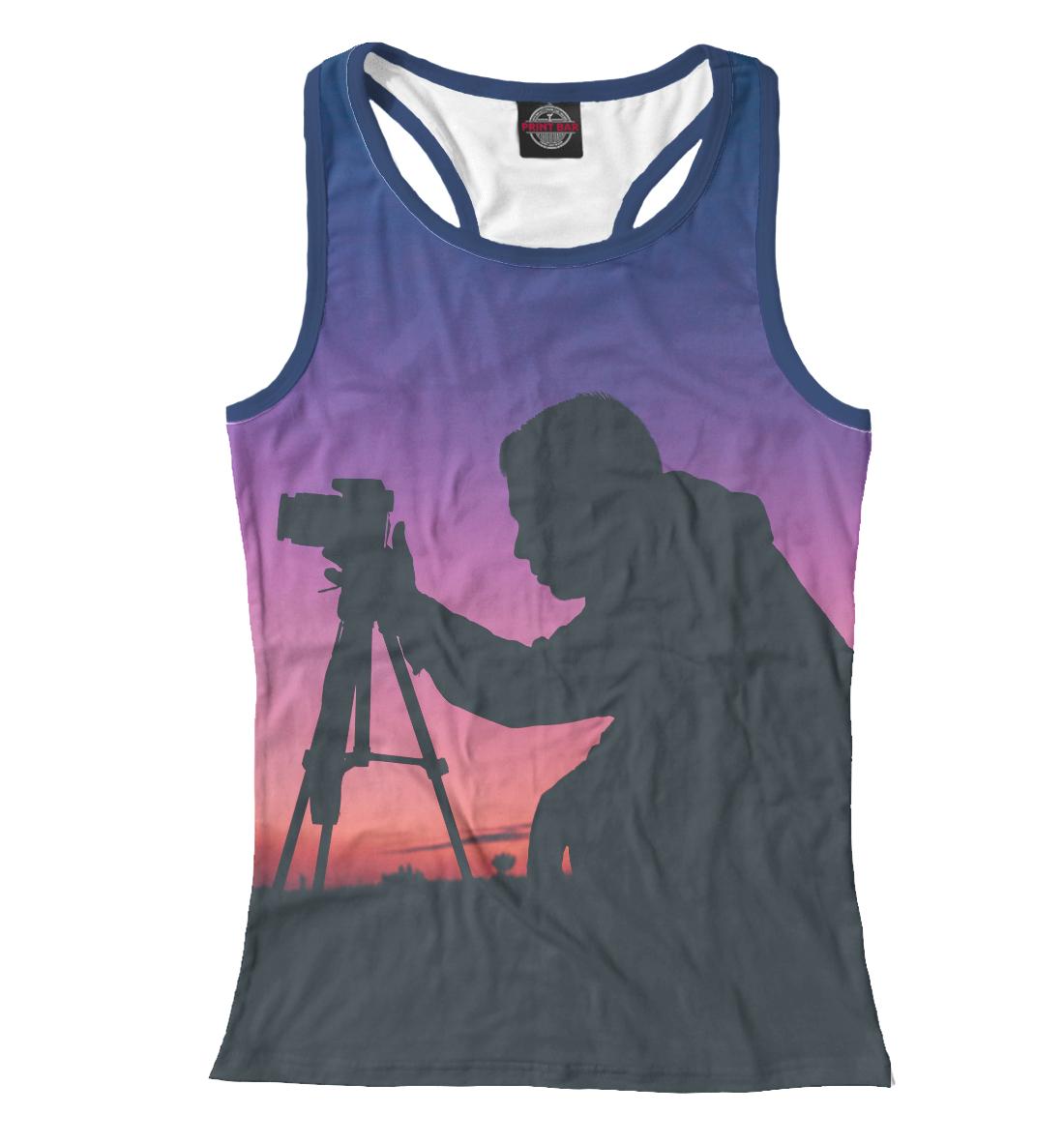 Купить Фотограф на закате, Printbar, Майки борцовки, PTG-699780-mayb-1