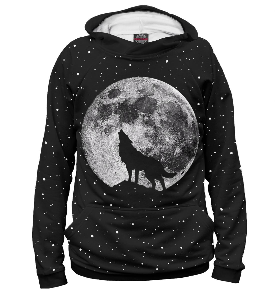 Купить Лунный волк, Printbar, Худи, VLF-185074-hud-2