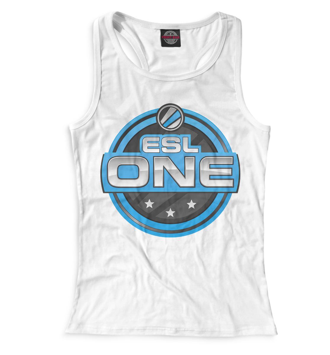 Купить ESL One Logo White, Printbar, Майки борцовки, COU-571626-mayb-1