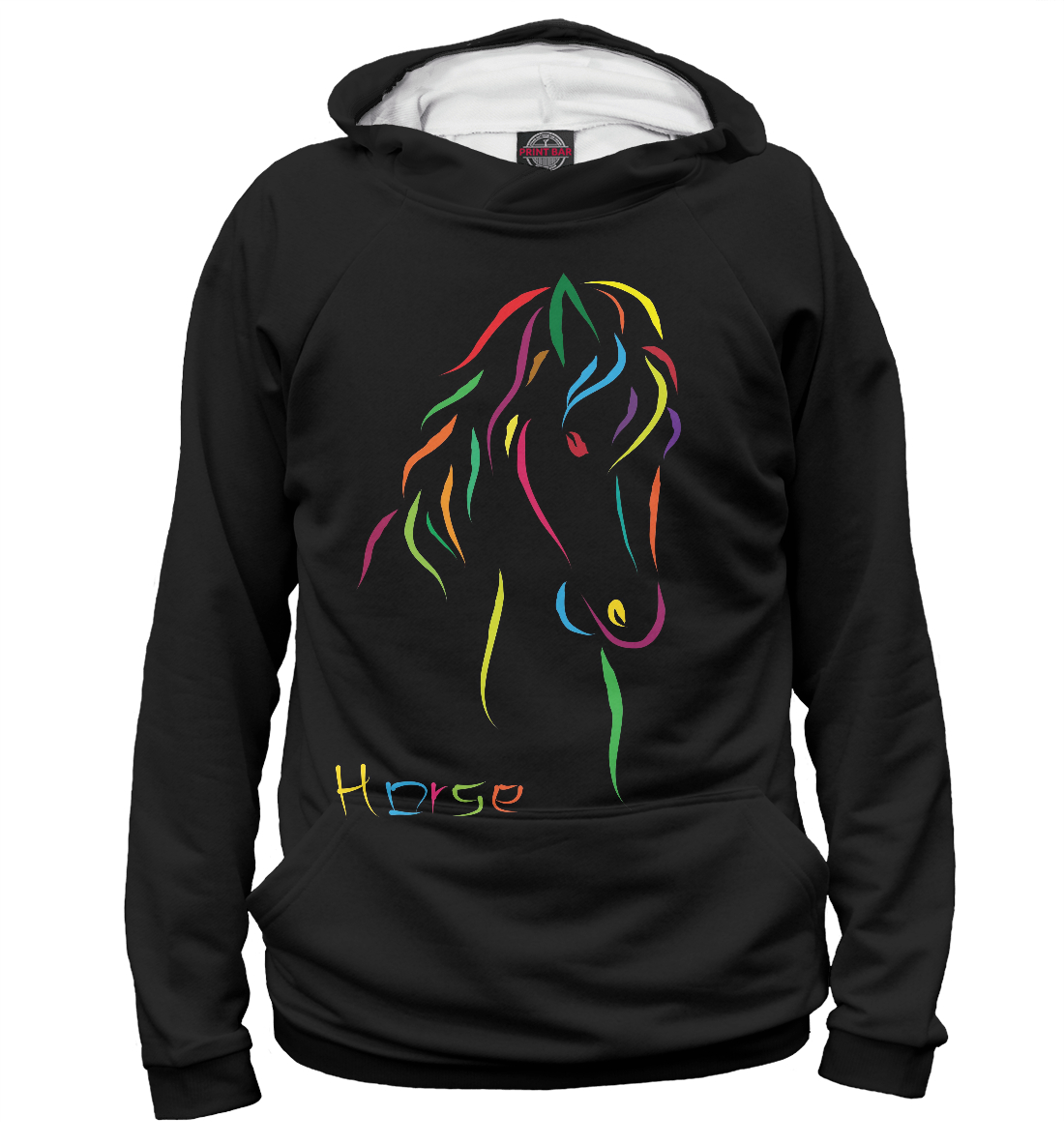 Купить Радужная лошадь, Printbar, Худи, LOS-510742-hud-1