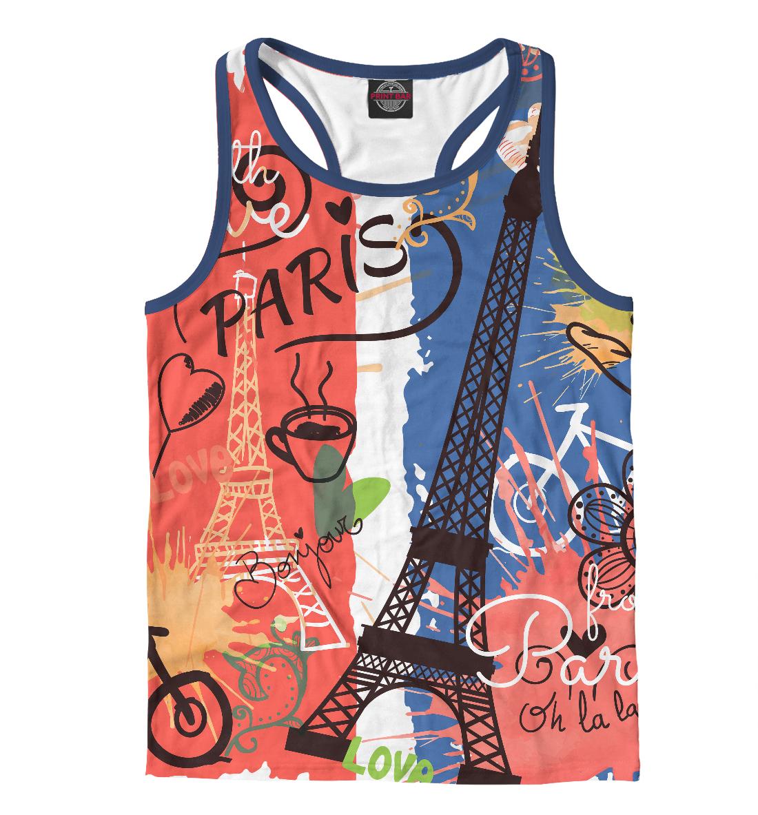 Купить Paris with Love, Printbar, Майки борцовки, CTS-768191-mayb-2