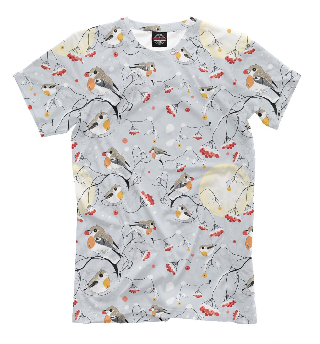 Купить Winter Birds, Printbar, Футболки, NOV-996392-fut-2