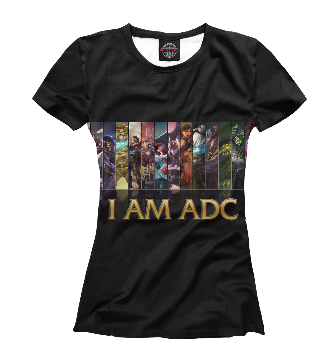 Купить I Am ADC, Printbar, Футболки, LOL-849297-fut-1