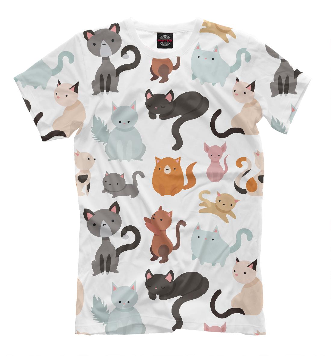 Купить Коты и кошки, Printbar, Футболки, CAT-594968-fut-2