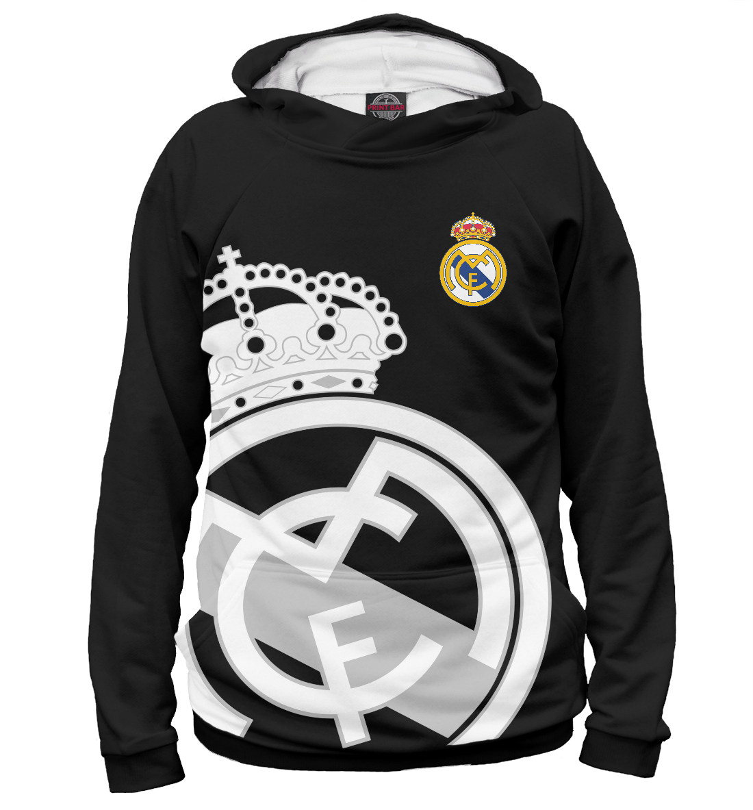 Купить Real Madrid Black&White, Printbar, Худи, REA-604934-hud-2