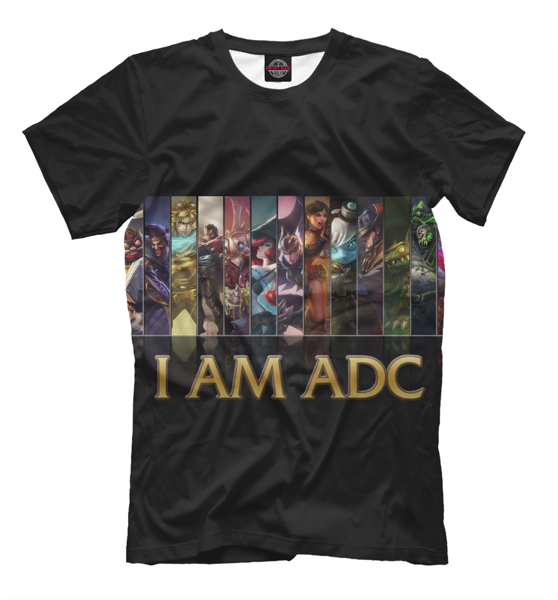 Купить I Am ADC, Printbar, Футболки, LOL-849297-fut-2