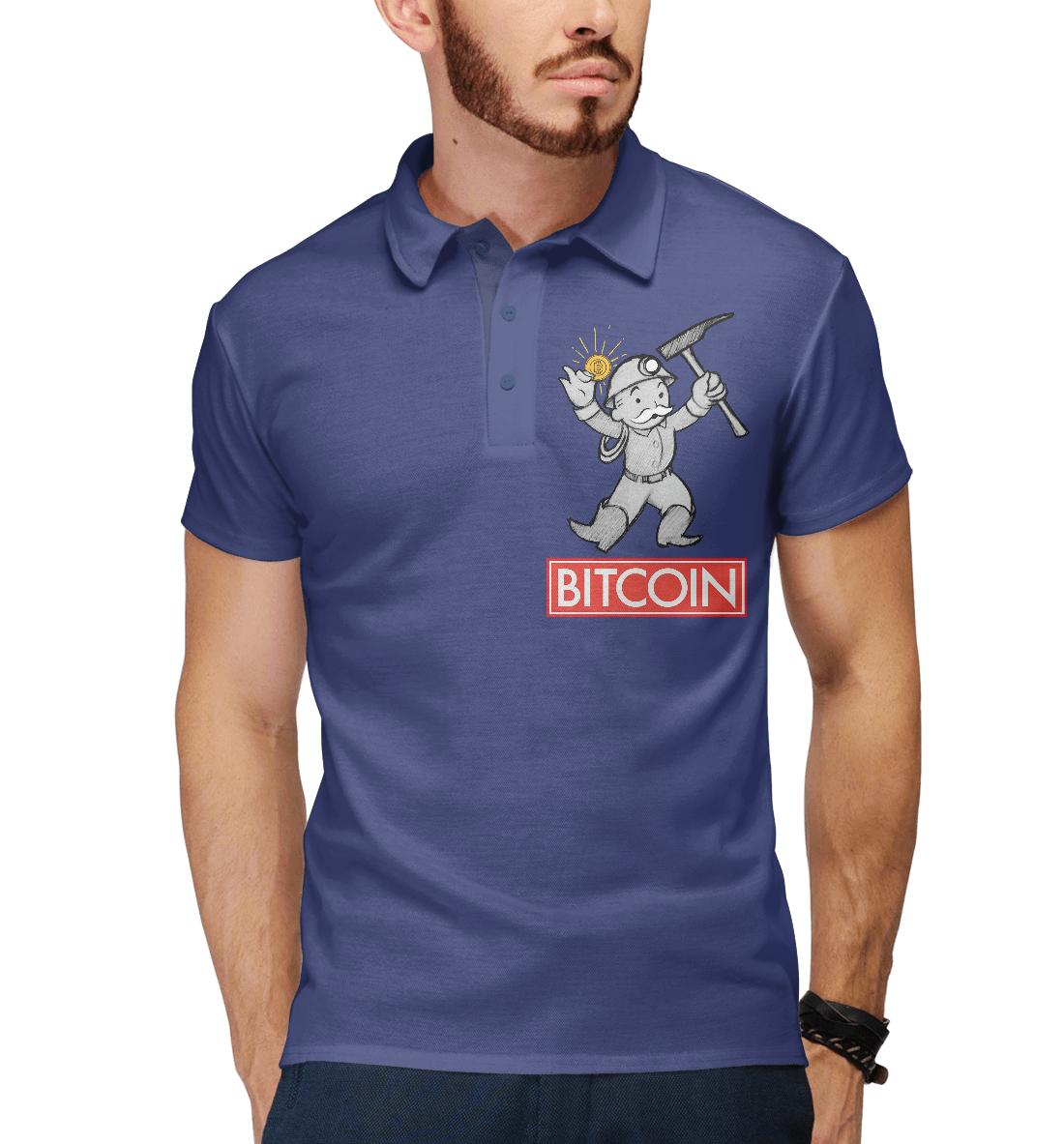 Купить Bitcoin Майнер, Printbar, Поло, CRC-494936-pol-2