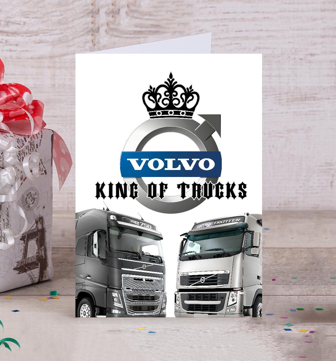 Купить VOLVO - король грузовиков, Printbar, Открытки, GRZ-894611-otk