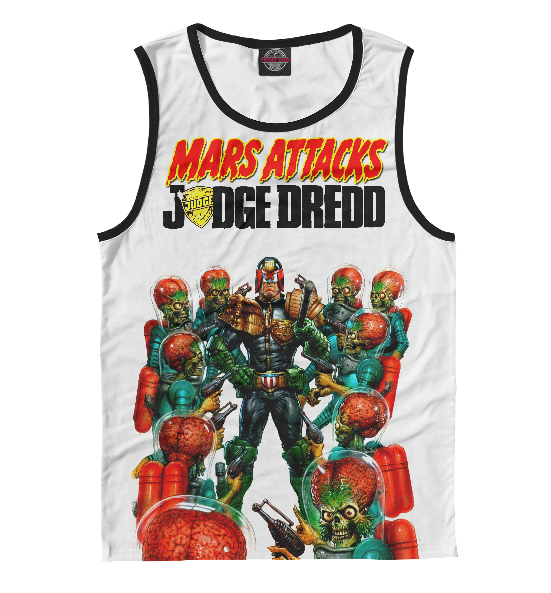Купить Mars attacks Judge Dredd, Printbar, Майки, CMX-464028-may-2