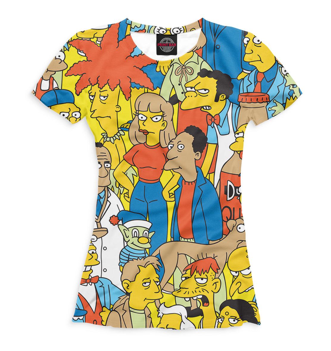 Купить Симпсоны: персонажи, Printbar, Футболки, SIM-643716-fut-1