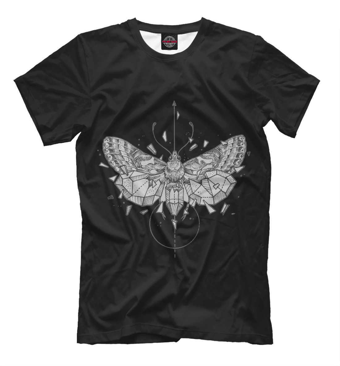 Купить Geometric dark butterfly, Printbar, Футболки, HIP-700371-fut-2
