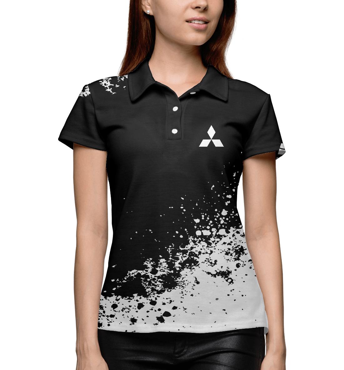 Купить Mitsubishi abstract sport uniform, Printbar, Поло, MBI-478340-pol-1