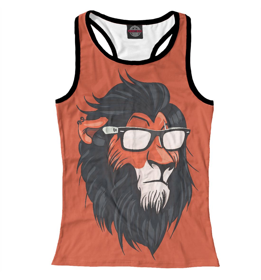 Купить Hipster Lion, Printbar, Майки борцовки, HIP-456149-mayb-1