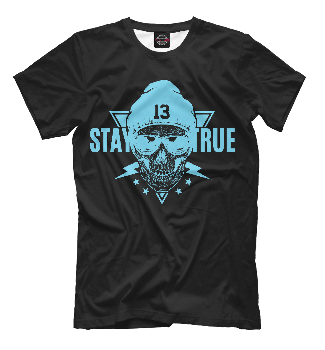 Купить Stay True skull, Printbar, Футболки, HIP-295383-fut-2