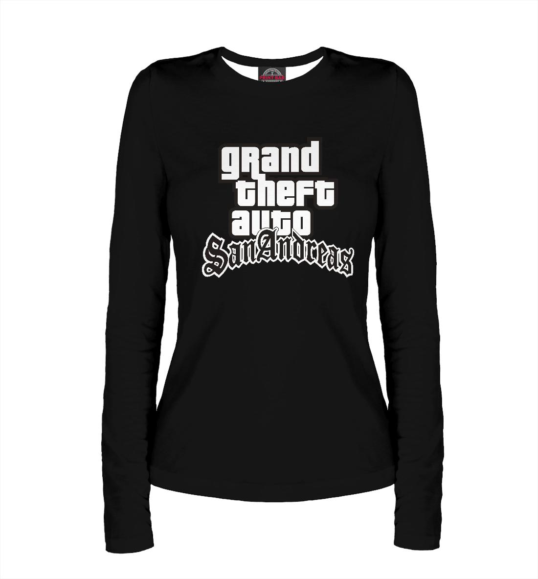 Купить GTA San Andreas Logo, Printbar, Лонгсливы, ROC-572197-lon-1