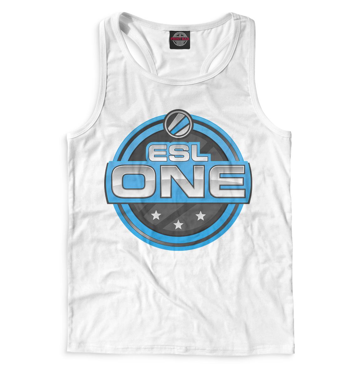 ESL One Logo White, Printbar, Майки борцовки, COU-571626-mayb-2  - купить со скидкой