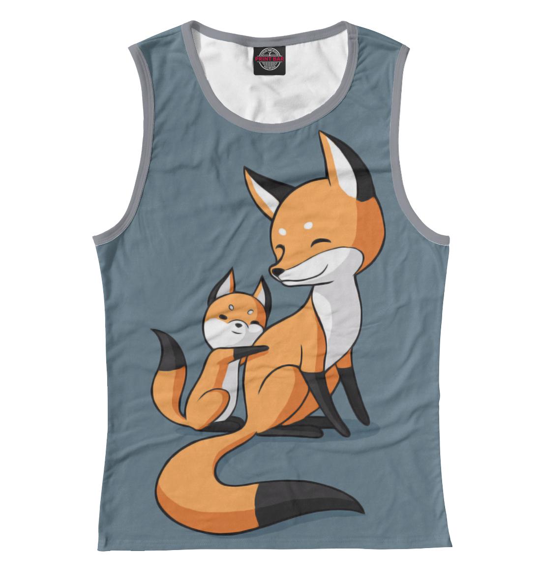 Купить Лисица с лисёнком, Printbar, Майки, FOX-299594-may-1