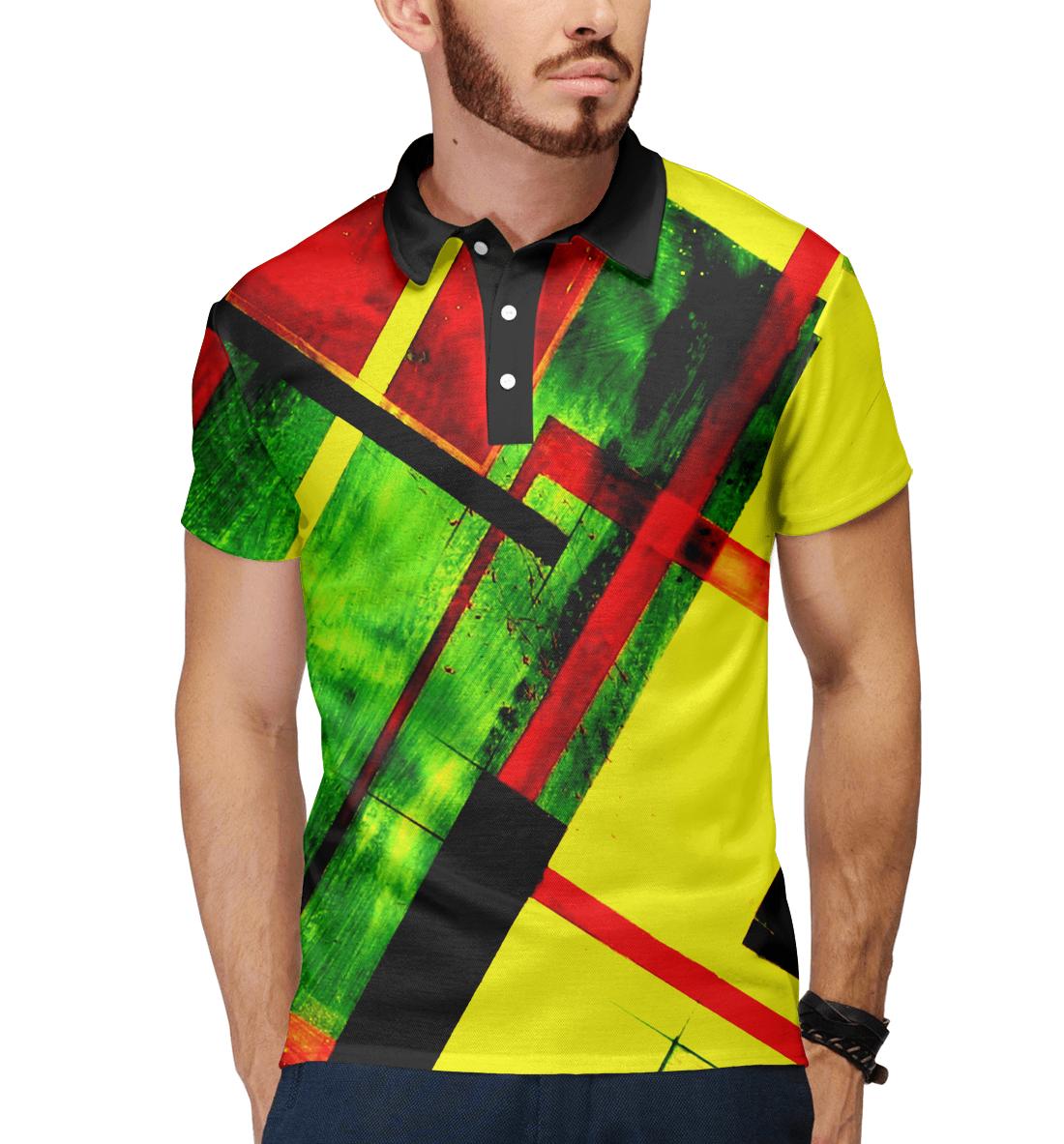 Купить Цветная геометрия, Printbar, Поло, GEO-170619-pol-2