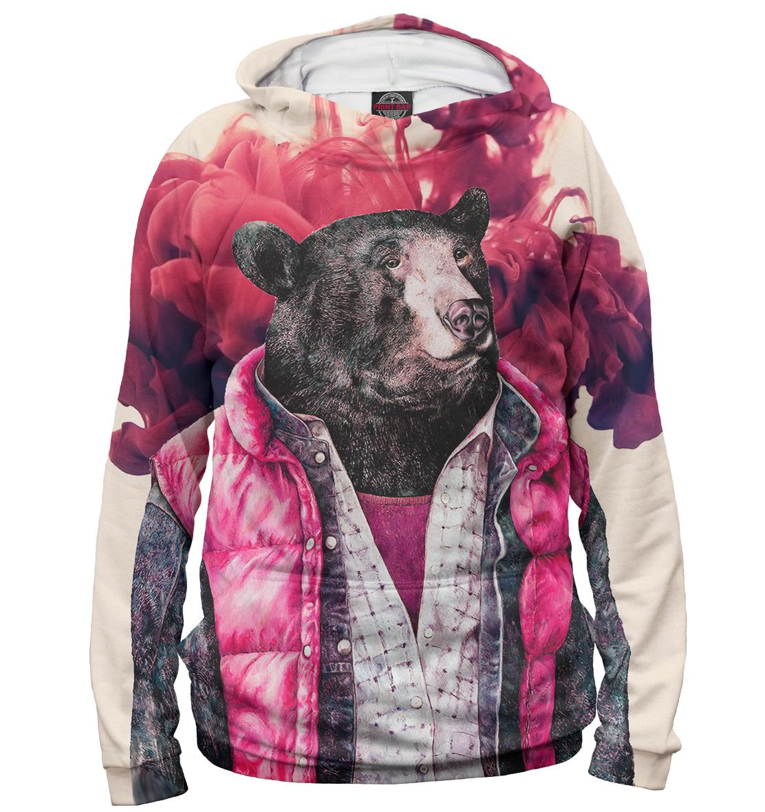 Купить Медведь в жилетке, Printbar, Худи, MED-826433-hud-2