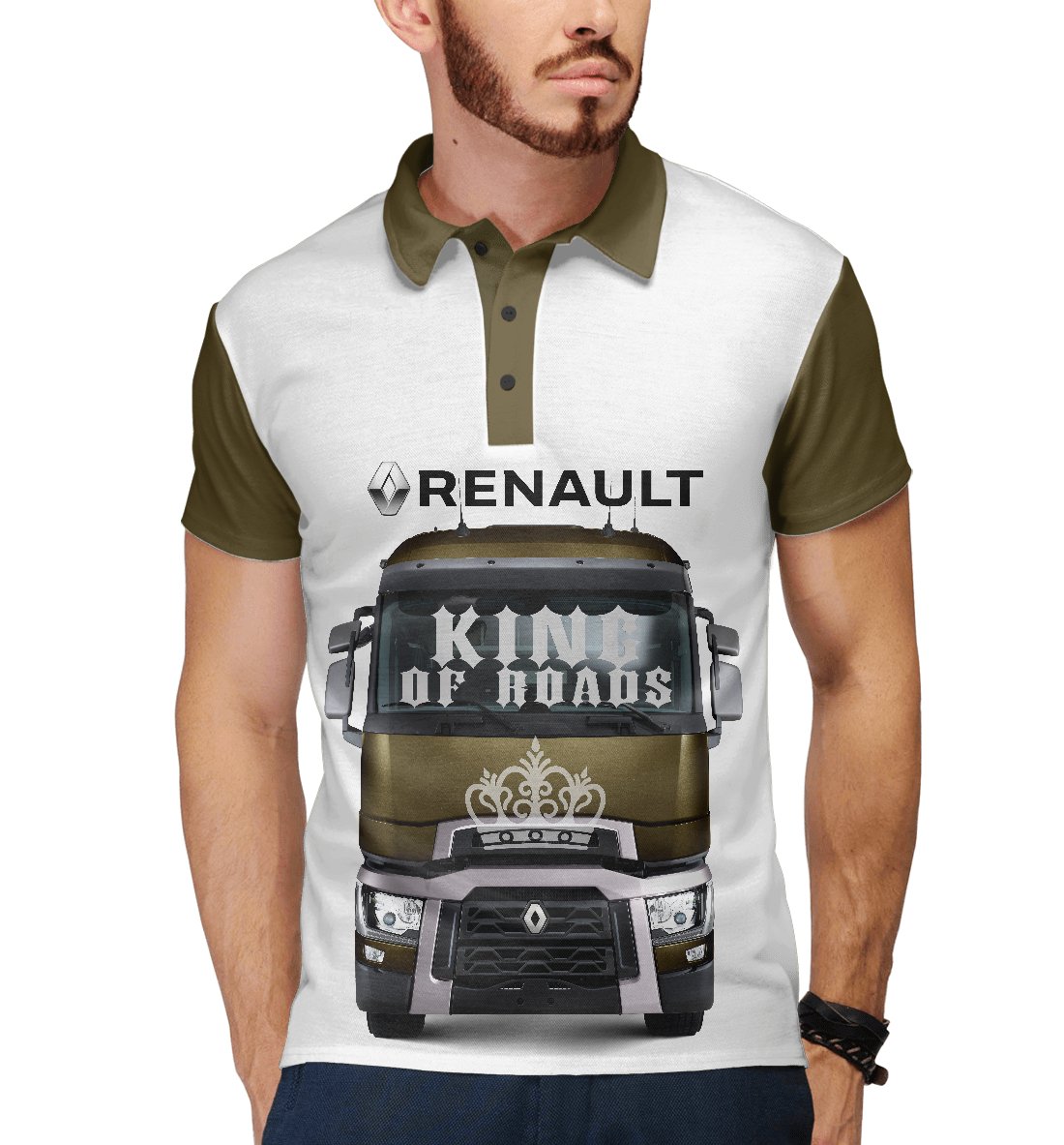 Купить RENAULT - король дорог, Printbar, Поло, GRZ-918078-pol-2