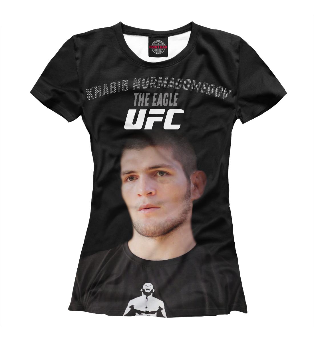 Купить UFC | Хабиб Нурмагомедов, Printbar, Футболки, NUR-833474-fut-1