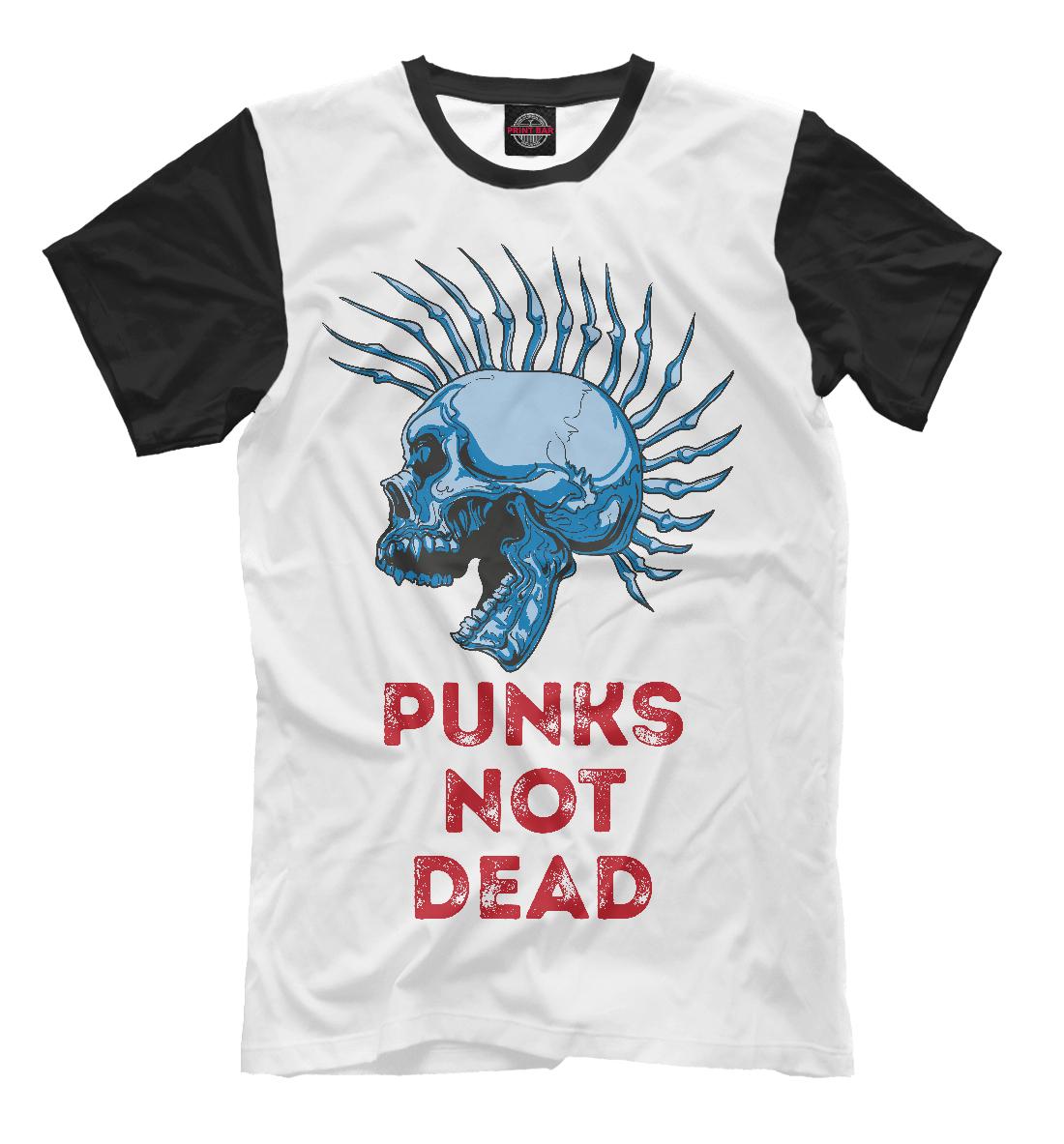 Купить Punks not dead, Printbar, Футболки, MZK-680959-fut-2
