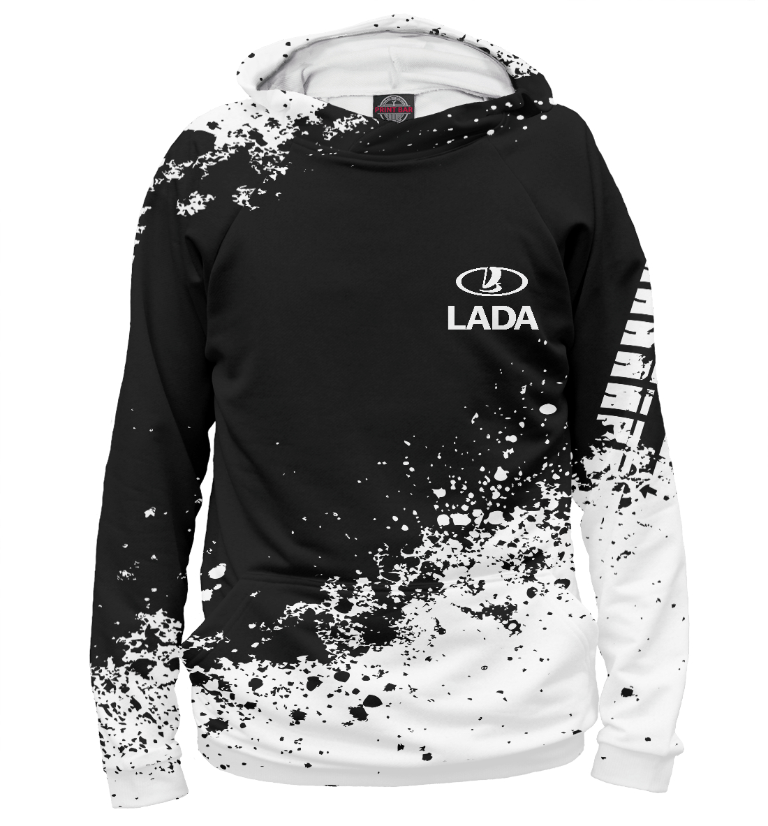 Купить Lada abstract sport uniform, Printbar, Худи, AMP-120828-hud-1